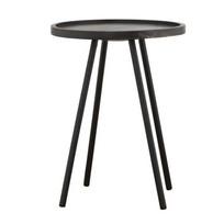 Bijzettafel Juco zwart - Ø40x55 cm