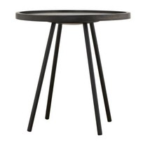 Bijzettafel Juco zwart - 50x50 cm
