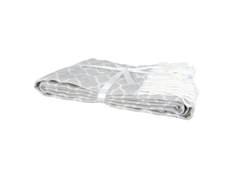 Clayre & Eef Plaid grijs - 130x150 cm