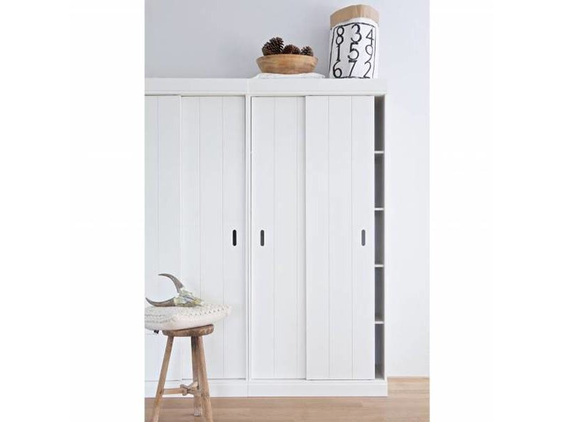 Woood Plankenkast Row wit - 195x85x44 cm