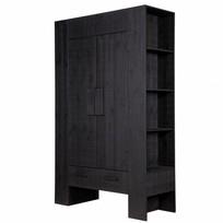 Woonkast Hidde zwart - 116x45xH185 cm