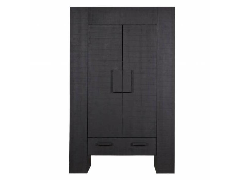 Woood Woonkast Hidde zwart - 116x45xH185 cm