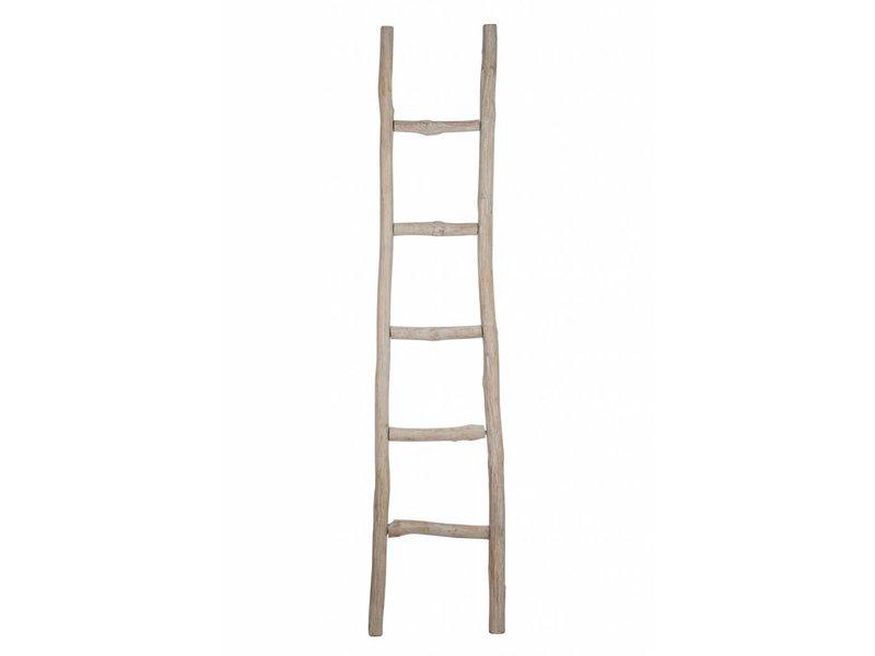 J-Line Decoratie Ladder Antiek grijs - 180x5x41 cm