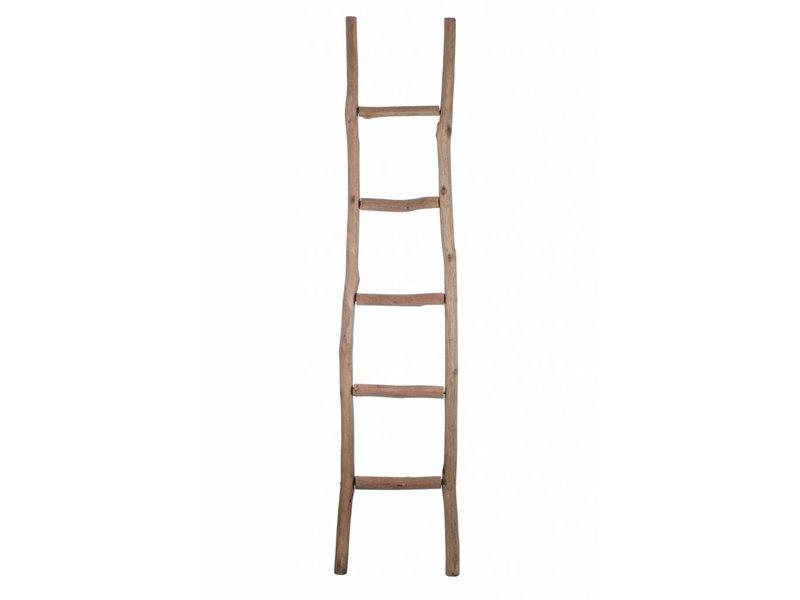 J-Line Decoratie Ladder Bruin - 180x5x41 cm