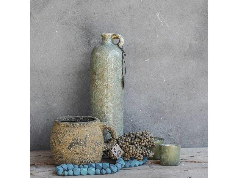 GeWoon Vaas aardewerk natuurtinten - 20x16x14 cm