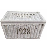 GeWoon Grote witte rieten mand XL - Yorkshire Dales 1928