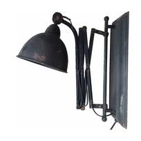 Uitrekbare metalen wandlamp - Zwart/Roest