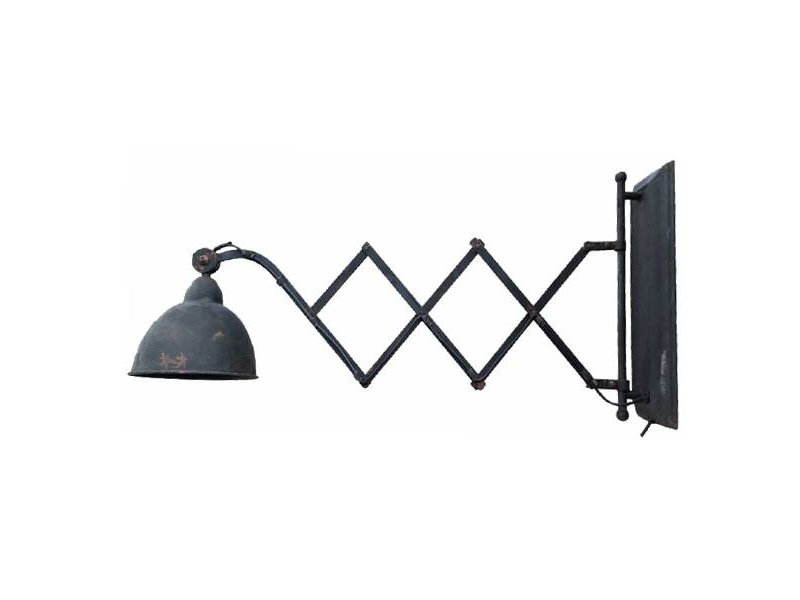 GeWoon Uitrekbare metalen wandlamp - Zwart/Roest