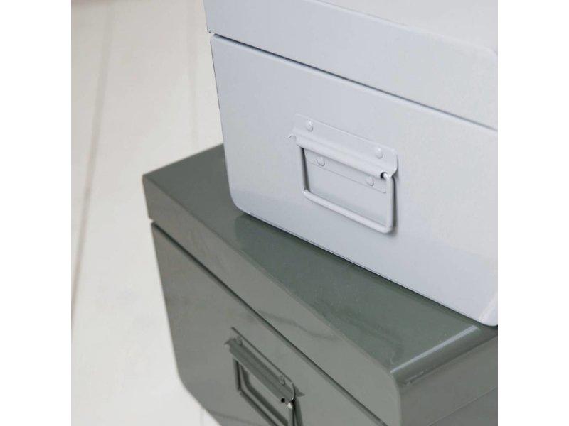 House Doctor Metalen voorraadbak wit - 52x20xH26 cm