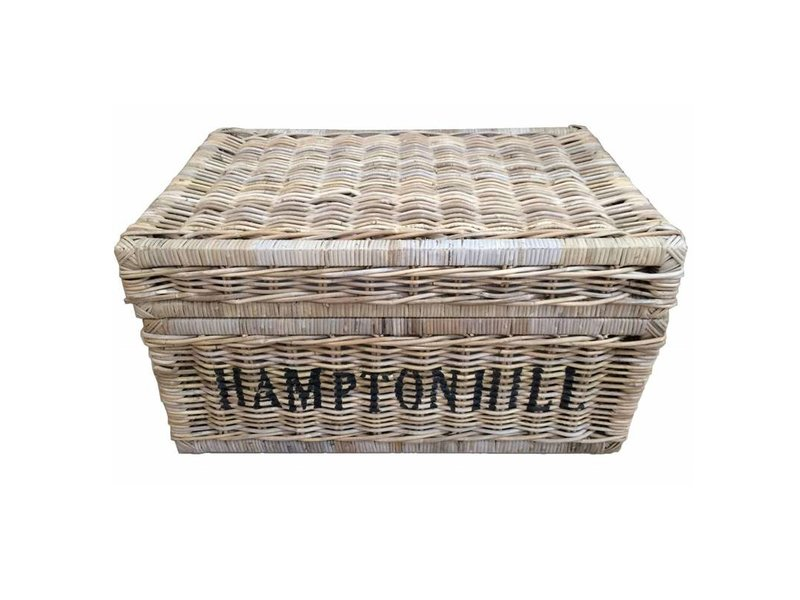 GeWoon Grote rieten mand met deksel - Hampton Hill