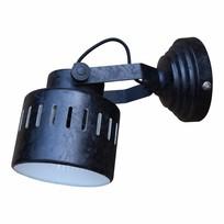 Wandlamp Ruw Zwart - 21 cm