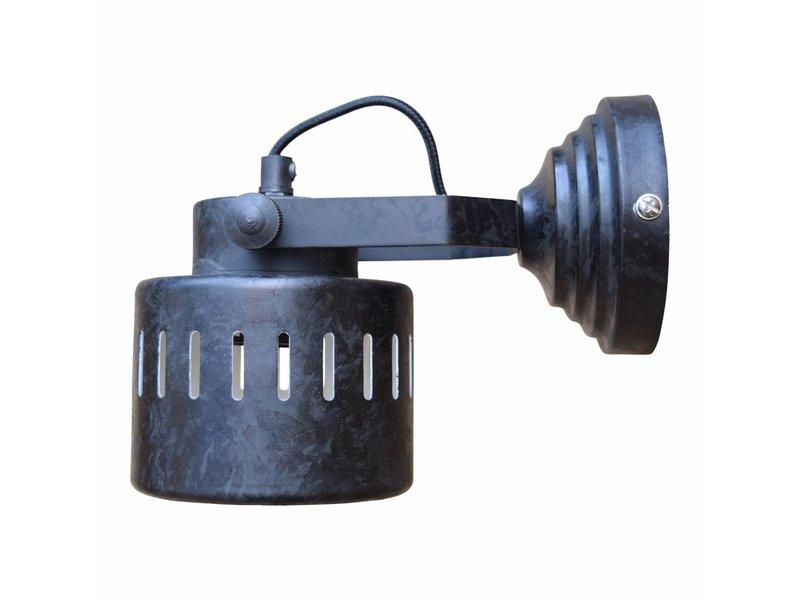 GeWoon Wandlamp Ruw Zwart - 21 cm