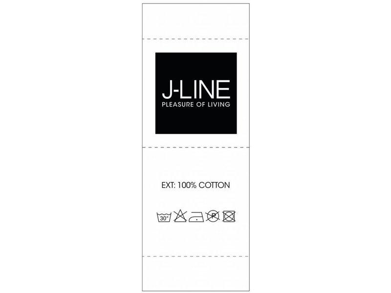 J-Line Plaid Blauw Katoen - 170x130 cm