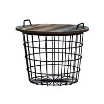 Bijzettafel Basket Zwart - Ø60xH50 cm