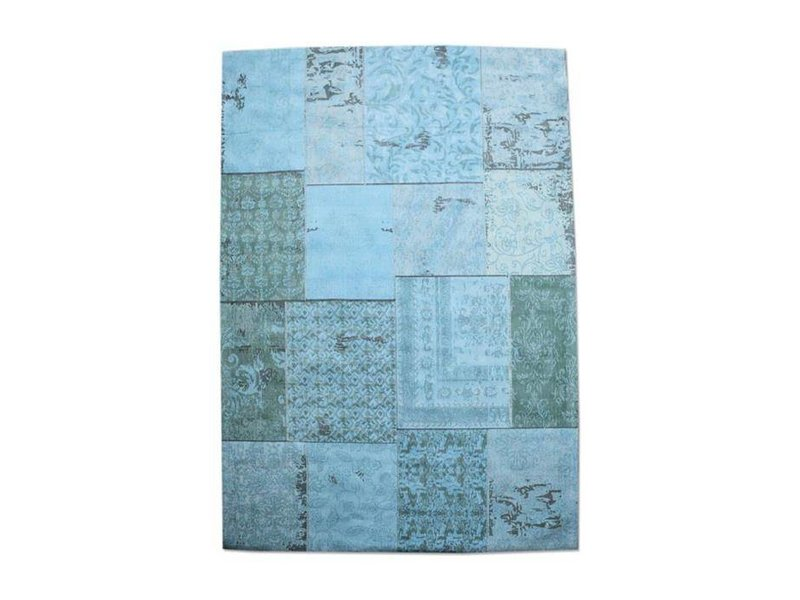 By-Boo Vloerkleed Patchwork Turquoise - 240x170 cm