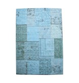 By-Boo Vloerkleed Patchwork Turquoise - 300x200 cm