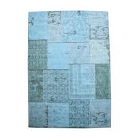 Vloerkleed Patchwork Turquoise - 300x200 cm