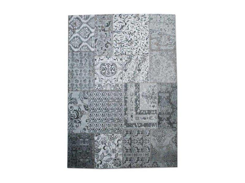 By-Boo Vloerkleed Patchwork Grijs - 300x200 cm