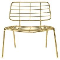 Lounge stoel Goud/IJzer - 70x60x70 cm