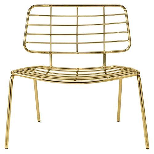 Bloomingville Lounge stoel Goud IJzer 70x60x70 cm
