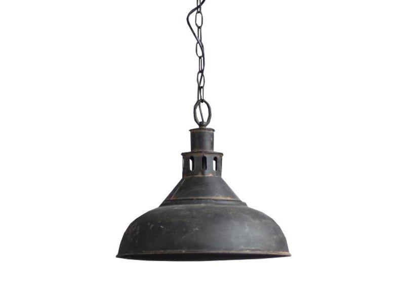 GeWoon Zwarte metalen hanglamp - Ø36xH33 cm