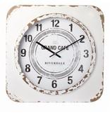 Riverdale Witte Wandklok Vintage - 60xH60 cm