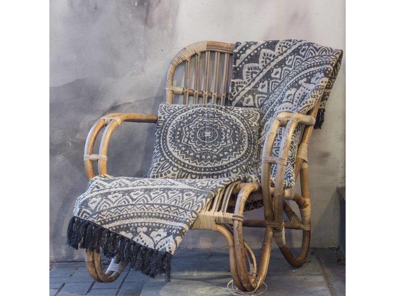GeWoon Sierkussen Batik Charcoal - 40xH40 cm