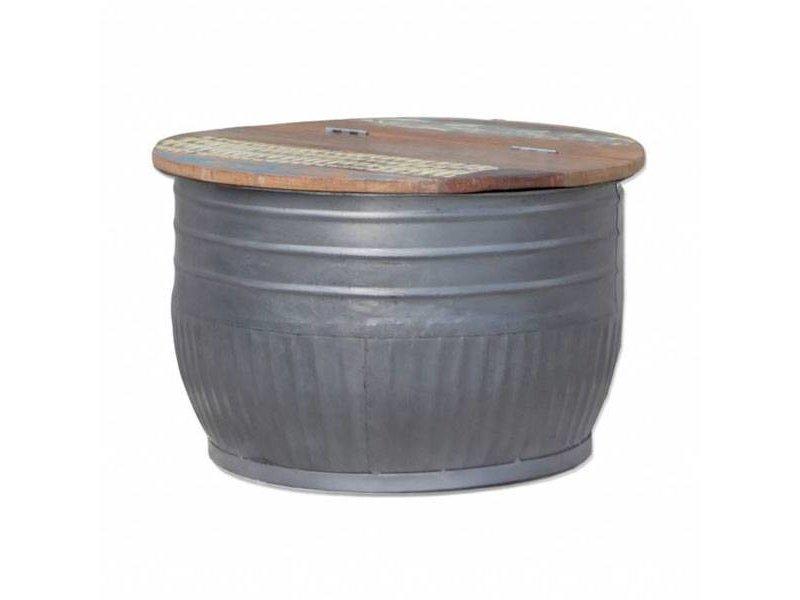 By-Boo Bijzettafel Storage Metaal - 70xH45 cm