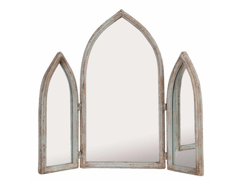 Clayre & Eef Driedelige spiegel Wit - 58x10xH55 cm