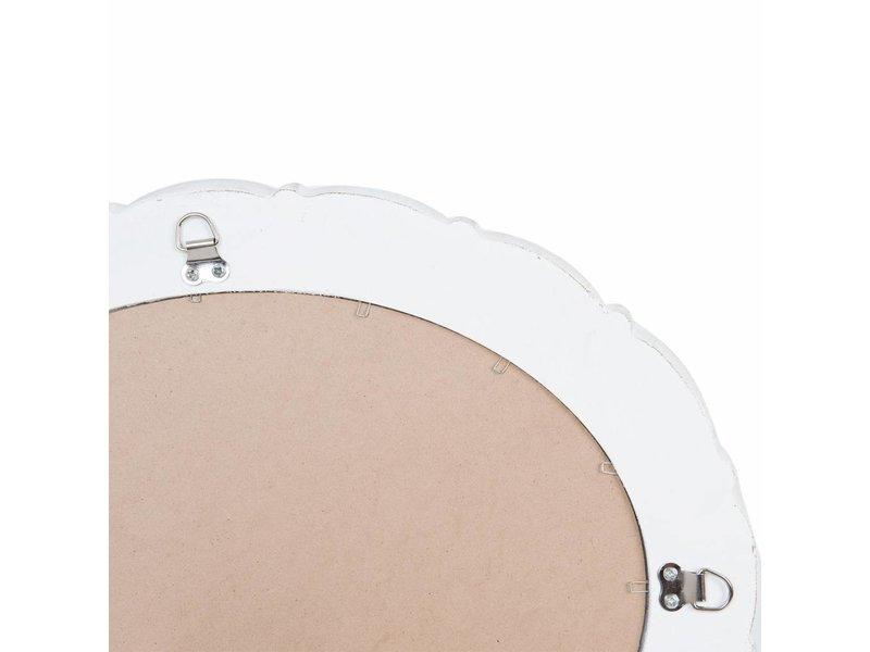 Clayre & Eef Wandspiegel Whitewash Hout - 30xH40 cm