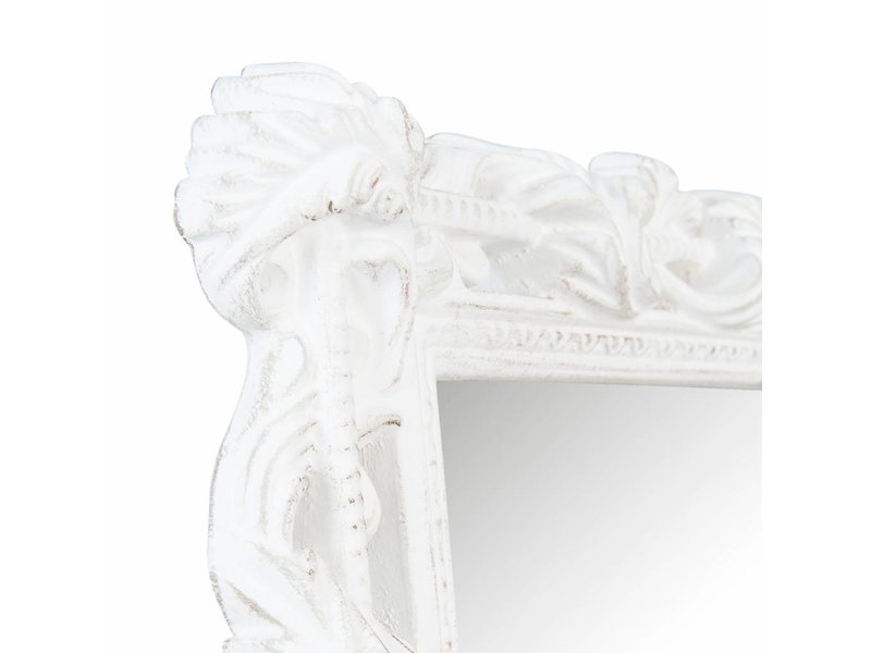 Clayre & Eef Wandspiegel Barok Wit - 20xH25 cm