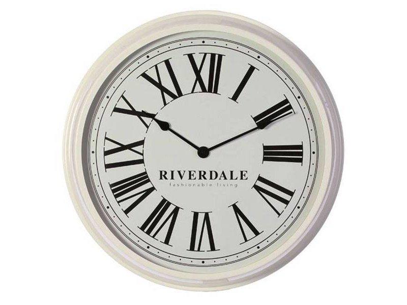Riverdale Witte Wandklok Time - Ø68 cm