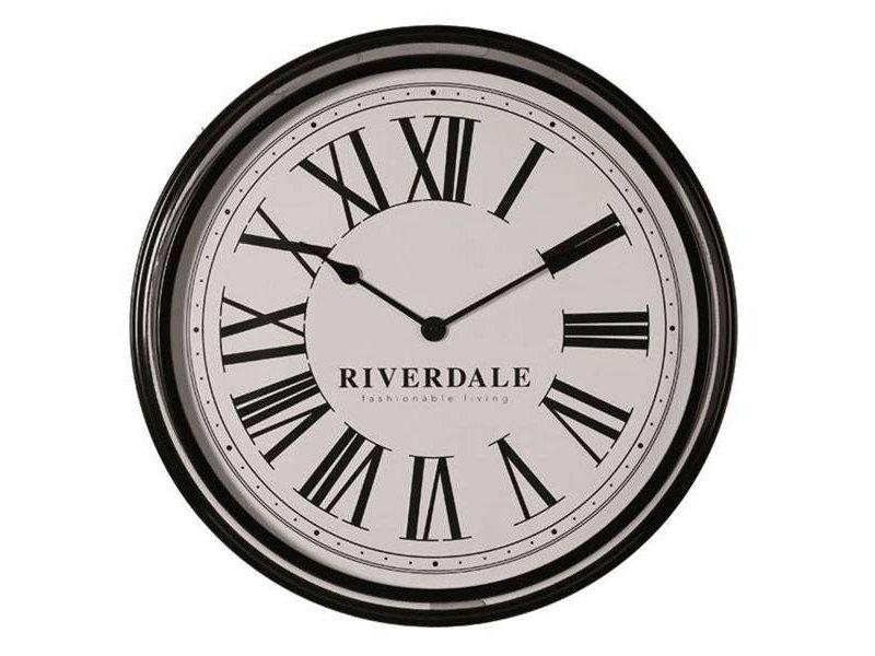 Riverdale Zwarte Wandklok Time - Ø68 cm