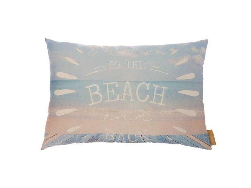 Riverdale Lichtblauw Kussen Beach - 70xH50 cm