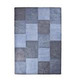 By-Boo Vloerkleed Patchwork Mono Blauw - 160x230 cm
