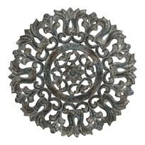 Wandpaneel Nadu Antiekblauw - Ø60 cm
