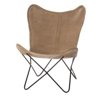 Vlinderstoel Brooklyn Beige - 71x76xH92 cm