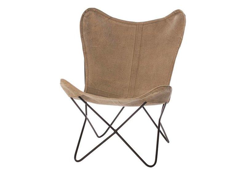 Riverdale Vlinderstoel Brooklyn Beige - 71x76xH92 cm
