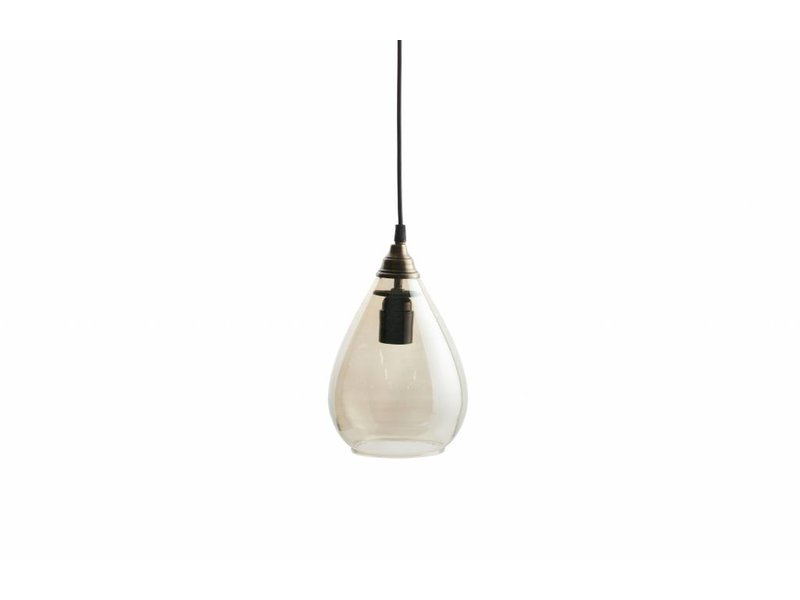 BePureHome Hanglamp Simple Glas Messing - Ø14xH28 cm
