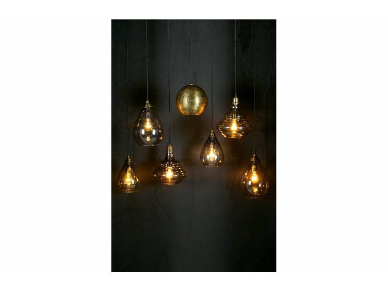 BePureHome Hanglamp Simple Glas Messing - Ø14xH28 cm