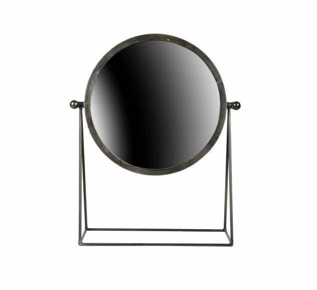 BePureHome Make-up spiegel zwart metaal - 36x16x43,5 cm - GeWoonKnus.nl