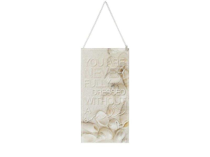 Riverdale Tekstbord Shells Wit - 30,5xH60 cm