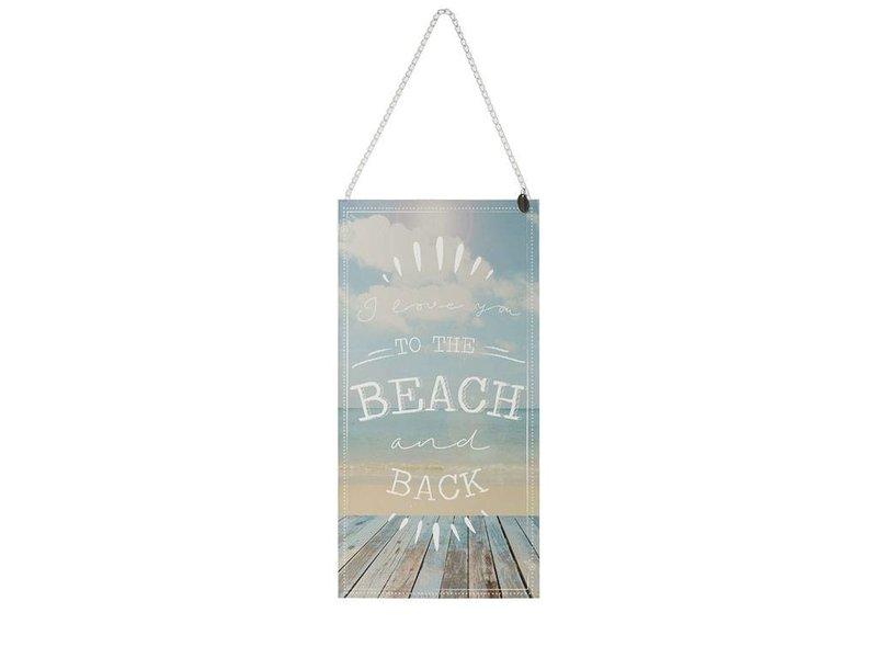 Riverdale Tekstbord Beach Blauw - 30,5xH60 cm
