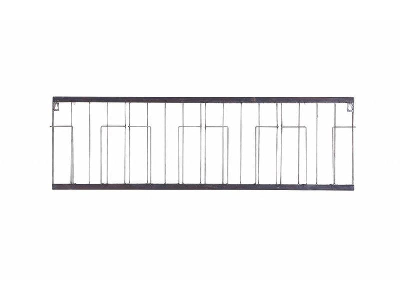 BePureHome Tijdschriftenrek Paper Zwart - 103,5x5,5xH32 cm