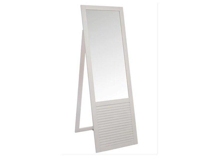 J-Line Witte Staande Spiegel - 182x57 cm