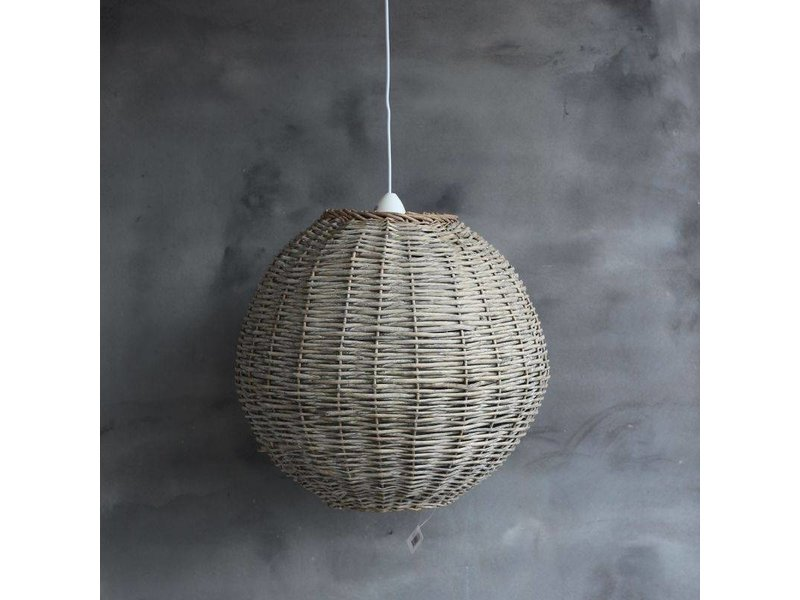 GeWoon Grote rotan hanglamp bol - 53x53 cm