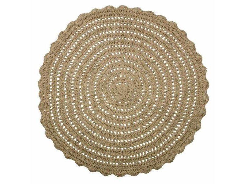 BePureHome Vloerkleed Corn Circle Gehaakt - Ø150 cm