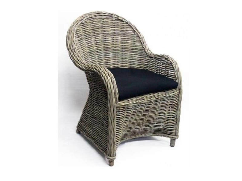 GeWoon Rotan stoel Antique Grey - 63x63xH89 cm