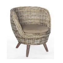 Rotan stoel Bucket - 82x77xH70 cm