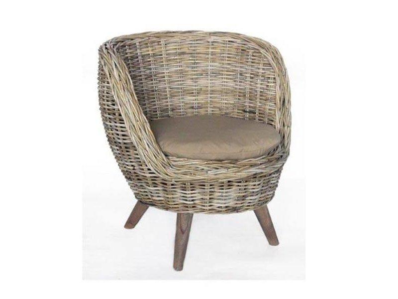 GeWoon Rotan stoel Bucket - 82x77xH70 cm